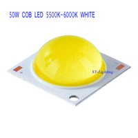 Wholesale 50W watt COB LED Chip Lamp Cool White Warm White Gold yellow V V DC mA with lens high brightness Pack of