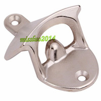 Wholesale beer opener wall resale online - DHL FEDEX Fast Shipping Fashion Aluminium alloy Wall Mount Bar Beer Soda Glass Cap Bottle Opener Kitchen Tool