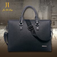 Wholesale Top Mens Business Briefcases - Free Shipping Head Layer Genuine Cow Leather Mens Bag Top Fashion Briefcase Handbag Men Shoulder Bag Laptop Bag