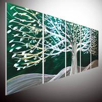 arte pared metal aluminio al por mayor-Original abstract wall Art On aluminio Metal Wall Art. Metal Sculpture Wall Art. Decoración del hogar. Pintura al óleo en la pared de aluminio 3D Sculpture