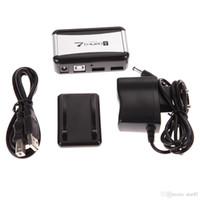 adaptador de corrente ca do cabo de alimentação venda por atacado-Perfeito 7 Portas USB 2.0 Hub Hubs de Alta Velocidade com EUA / UE Plug AC Power Adapter Cabo para PC Portátil Barato Hubs USB