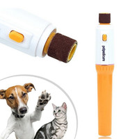 Wholesale Dog Cat Electric Clippers - Petpedicure Pet Nail Grooming Electric Pet Nail Trimmer Dog Cat Grinding Nail Tools Grinder Grooming Trimmer Clipper OOA2531