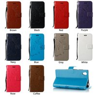 Wholesale Xperia Wallet - Classic Retro Wallet Case For Sony Xperia XA1 XZ XZP L1 E5 C5 Case Flip Stand Cover Phone Shell Retail Package