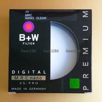Wholesale Pro Camera Lenses - 2017 B+W UV 77mm XS-PRO MRC Nano UV-Haze Protective Filter 77 mm Ultra-thin Circular Multi-Resistant Coating For Camera Lens 010M
