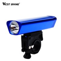 Wholesale Light Aluminum Bike Frame - Aluminum Bicyle Led Front Light With Frame Set Outdoor MTB Road Bike Accessories Flashlight Torch Lamp Cycling Bicycle Light