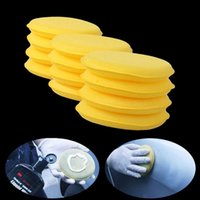 Wholesale wax applicators - 60Pcs lot Waxing Polish Wax Foam Sponge Applicator Pads For Clean Car Vehicle Glass