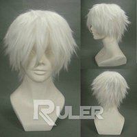 Бесплатная доставкаShort Layer Anime Gintama Sakata Gintoki Cosplay Wig COS-178A