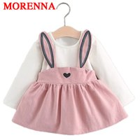 MORENNA Baby Dresses 2017 Summer New Baby Girls Одежда Lace Bow галстук Mini A-Line Платье для принцессы Baby Cute Cotton Kids Clothing