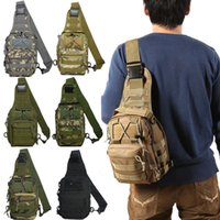 ingrosso pacchetti da escursione sulle spalle-8 uomini di colore Outdoor Sport Camping Escursionismo Camouflage Borsa a tracolla Tactical Travel: Casual Cross Body Sling Waist Pack