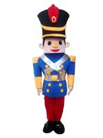 Wholesale Mascot Soldier - Free shipping light and easy to wear adult plush christmas soldier mascot costume for adult to wear holiday