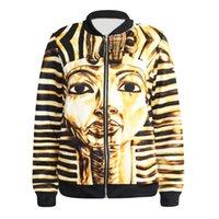 Wholesale Egypt Knit - NHot style fashion jacket zipper coat queen of Egypt printing baseball windbreaker jacket, qiu dong outfit