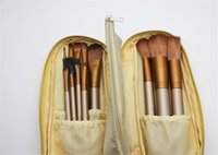 Wholesale brush sets pieces - NEW Nude Makeup Brushes Nude 12 pieces Professional Brush sets Gold package or Black Package Free shipping