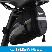 cycling saddle seat Canada - Roswheel Outdoor Unisex Cycling Bike Saddle Bag Black Polyester PVC Bicycle Bag Seat Tail Pouch Utility Cycling Bag With Lid NEW +TB