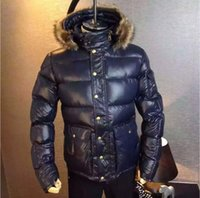 Wholesale Luxury Men Winter Jacket - M139 Luxury Brand Jacket anorak men winter jacket men real raccoon fur jacket winter thick Down and Parka Anorak jacket