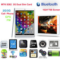 FreeShip Boda Tablet PC OEM MTK8382 2G / 3G BT GPS core Duad CPU Dual Sim Android Phone 7.8 pouces IPS HD 1G / 16G WIFI Bluetooth