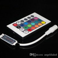 Mini Controller LED multicolore 24 tasti Colore RGB con telecomando IR Mini dimmer per lampade a LED 12 V DC