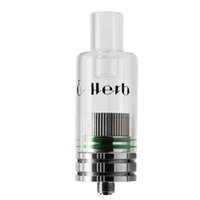 Wholesale Tank Ecigarettes - Ecigarettes E Herb Vaporizer 2 in 1 Ceramic Wax Dry Herb Atomizer Tank E-cigs for Ceramic Replacement Coils 510 Thread Ecigs atomizer