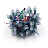 5v ws2811 пиксельная строка оптовых-12мм 5V Полноцветный Смарт RGB LED Pixel WS2811 UCS1903 SM16703 LED Pixel Light Строка цифровой узел, Круглая форма, 50шт / нить, водонепроницаемый IP68