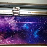 vinyl-aufkleber-design für autos großhandel-Verschiedene farben galaxy design vinyl auto wrap film mit air free wrap folie gedruckt vinyl wrap aufkleber ganze auto abdeckfolie 1,52x30 mt / rolle