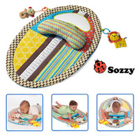 Wholesale Function Sample - Sozzy Cartoon Design Baby Play Mats with Pillow Waterproof Creeping Mat Game Blanket with Uirne Changing Pad Function