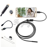 Wholesale Endoscope Borescope Camera - 1M Long 6 Adjustable LED 5.5mm Lens Endoscope 720P Android PC USB Endoscope Inspection Borescope Tupe Camera Waterproof CCTV Cameras 49#