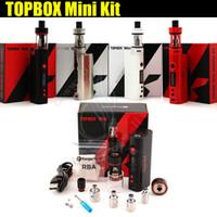 caja superior de vapor kangertech al por mayor-Kanger Topbox Mini 75W TC Starter Kit de calidad superior Kangertech KBOX Mini Box Mod Toptank pro SSOCC Atomizadores Modos de vapor subox nano e cigs DHL