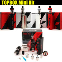 Wholesale Red Atomizer - Top quality Kanger Topbox Mini 75W TC Starter Kit Kangertech KBOX Mini Box Mod Toptank pro SSOCC Atomizers Vapor mods subox nano e cigs DHL