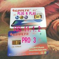 Wholesale Unlock Networks - Plug n play GPPLTE Pro 3 unlock ios 11.1 US Sprint T-MOBILE iphone 7plus i7 6s plus, 6 ,5, 5S AU softbank 4G wcdma rsim12 networking