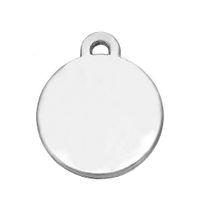 Wholesale Gold Blank Pendants - 14.2*17.1mm Tibetan Silver Plated Blank Stamping Discs Tag Metal Pendants DIY Charms Engraving Wholesale 20pcs lots