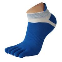 Wholesale Finger Toes - Wholesale-Men Mesh Design High Quality Sports Ankle Socks men socks basketball Meias Running Five Finger Toe Good-looking Mar 7