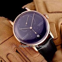 Wholesale power reserve casual watches for sale - High quality new NOMOS Lambda Men s Automatic watch Power Reserve Clock mm black dial Rose gold Gents Casual watches