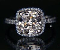 Wholesale Inspired Rings - Lady's Silver Diamon White Sapphire Ring Size 5 6 7 8 9 10 Designer-inspired