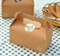 Vente en gros de boîtes en papier Kraft Party Wedding Favor Box Biscuits Muffin Cake Box H2010251