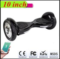 Wholesale 10 inch Mini Balance Scooter Phone App control Bluetooth Music Speaker Scooter Hoverboard Electric LED Scooters Two Wheels FEDEX Shipping