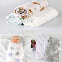 Wholesale Gauze Sleeping - Kids gauze Blankets Winter Warm Blankets infant Swaddling cartoon baby bed sheet Sleeping Bag 135*135cm DHL C1531