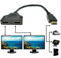 Wholesale Hdmi Splitter Y Cable - 1080P HDMI 1 Male To Dual HDMI 2 Female Y Splitter Cable Adapter for HDTV LCD TV