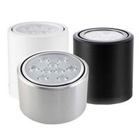 luzes led redondas venda por atacado-Atacado Dimmable 3 W / 5 W / 7 W / 12 W COB Rodada CONDUZIU a Luz Downlight Superfície Montado Cozinha Banheiro luz do Ponto da lâmpada fácil ajustar a cabeça de luz AC85-265V