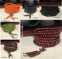 Wholesale 216 Bead Mala - 2016 Hot sales 6mm 5mm Natural Sandalwood Buddhist Buddha Meditation 216 beads Wood Prayer Bead Mala Bracelet Women Men jewelry