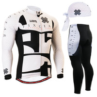 Wholesale Cycling Jersey White Pants Long - Wholesale-Life on Track Men Black and White Cycling Jersey Tops + Pants Clothing Set Bicycle Sport Long Sleeve Clothes Roupa Ciclismo