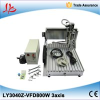 Wholesale Cnc Engraving Machinery - 800W mini router cnc machinery with limit switch for aluminium engraving