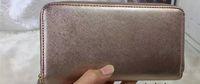 kart stilleri toptan satış-Kadınlar için marka tasarımcı cüzdan çantalar debriyaj çanta PU fermuar ile kart sahibinin uzun tarzı