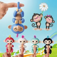 Wholesale Wholesale Free Stuff - Baby Monkey Fingerling Smart Interactive Monkey Funny Smart Induction Sensor Toys Mixed Colors Kids Toy free shipping