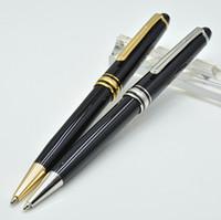 bolígrafos de escritura al por mayor-Alta calidad Meisterstok 163 bolígrafo de resina negro papelería de oficina de la escuela de lujo monte Plumas de recarga de escritura para el regalo de negocios
