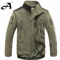 Wholesale Men Outdoor Hunting Jacket - mens clothing autumn winter fleece army jacket softshell outdoor hunting clothing for men softshell Tactical Jackets style jackets