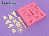 fırın kupası toptan satış-Yeni Fondan Kek BaseBall Kalıpları Set Silikon Kalıpları ekmek kek dekorasyon araçları Kek Dekorasyon Aracı Çikolata Kalıpları
