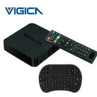 Wholesale Android Smart Tv Xbmc - MXQ 4K Android TV Box Quad Cortex-A7 RK3229 1G 8G Smart TV BOX KODI XBMC Wifi HDMI Media Player Air Mouse Keyboard TV Box+i8