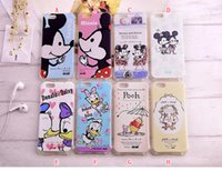 Cartoon Slim antichoc Minnie Mickey Mouse TPU souple pour iPhone 6 6S plus Lapin Rabito Donald Duck couverture de peau Belle Silicone Gel Retour