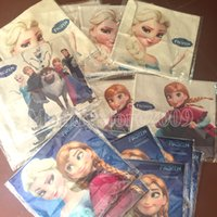 Wholesale Pillowcases For Kids - 5 Patterns Frozen Pillowcases Princess Elsa Anna Cotton Pillow Case 45*45CM Cartoon Cushion Cover Linen Pillowcases For Kids Free Shipping
