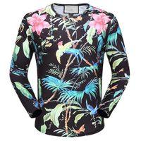 Wholesale Menswear Slim - 2017 new Menswear G home embroidery snake letter new casual T-shirt shirt long sleeve cotton shirt Menswear brand design size m-3xl