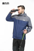 Wholesale Camping Raincoats - The Mens Winter Jacket North Men Face Waterproof Winterbrake Sportswear Jacket Raincoat Outdoor Travels Hiking Camping Jacket Multicolor